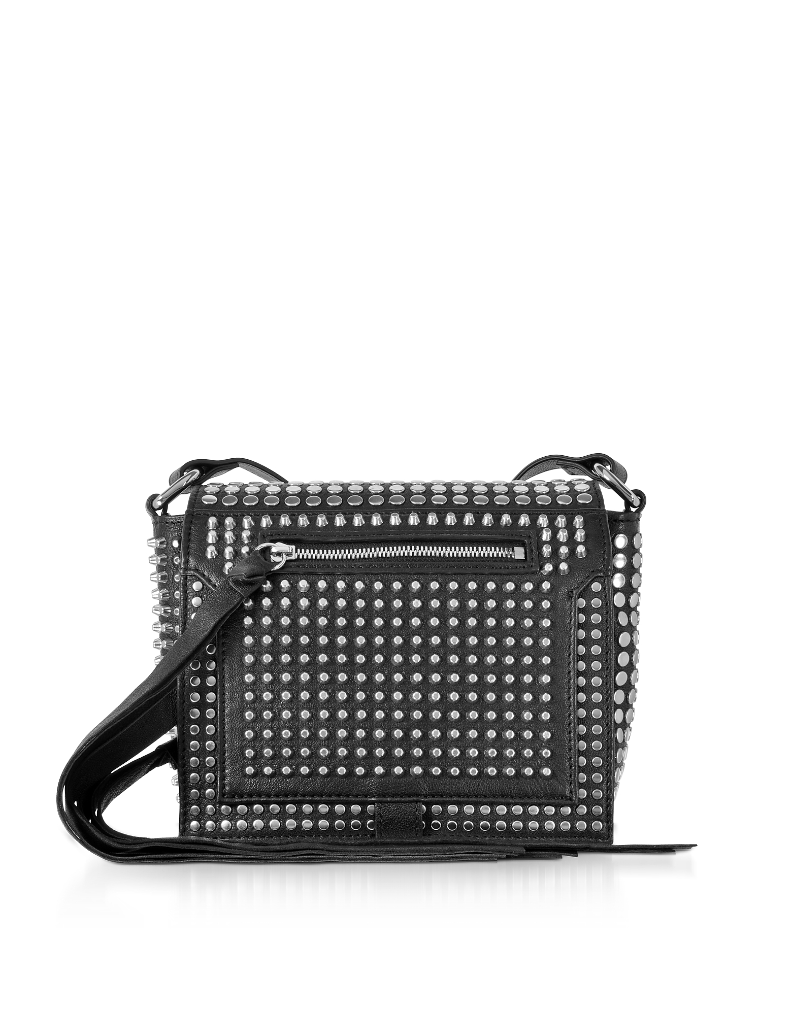 McQ Alexander McQueen Handbags, Black Studded Leather Leather Mini Crossbody Bag