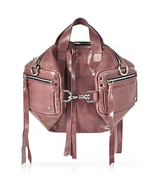 Dirty Pink Waxed Leather Mini Convertible Holdall - McQ Alexander McQueen