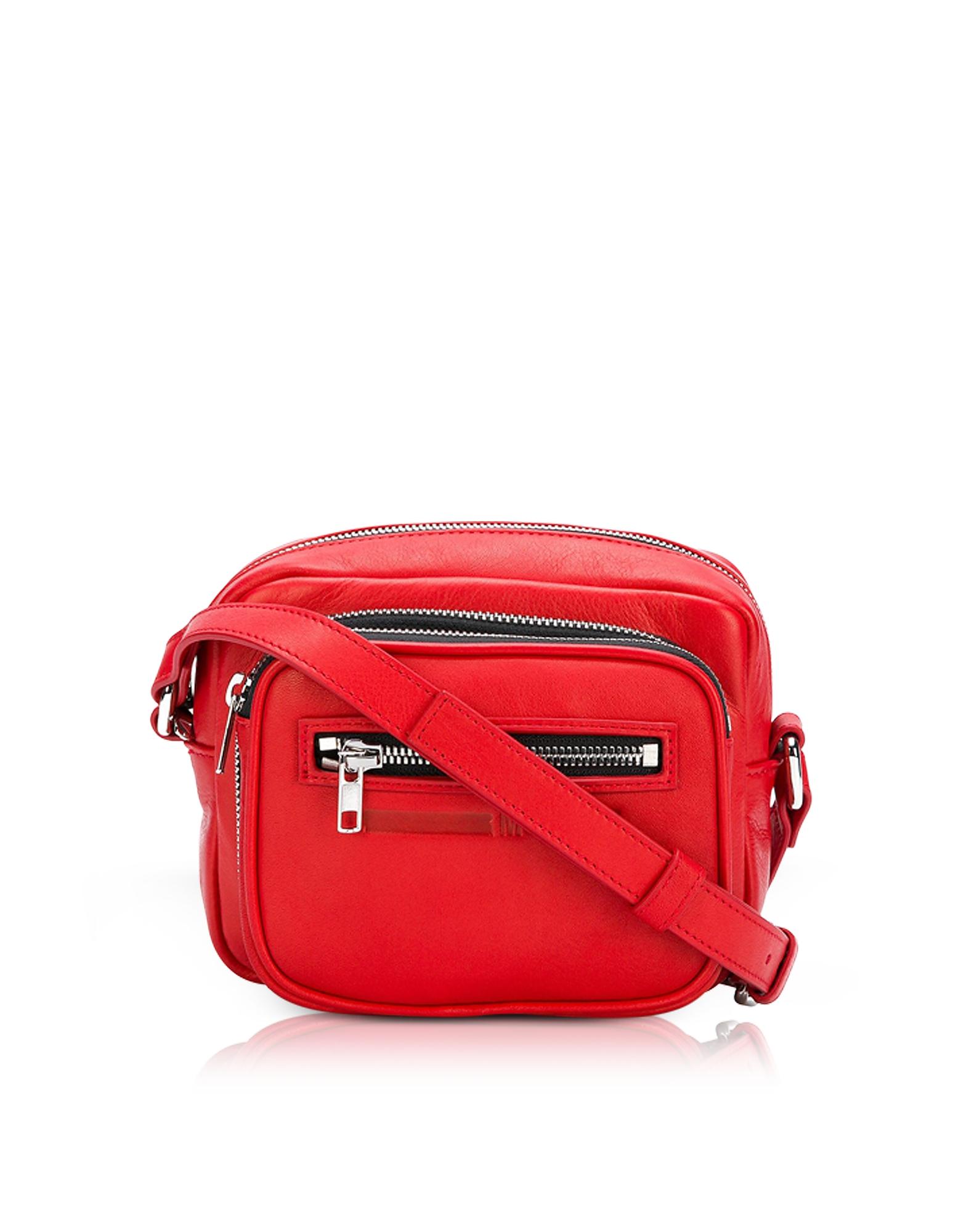 McQ Alexander McQueen Handbags, Loveless Riot Red Leather Crossbody Camera Bag