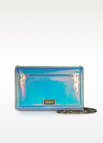 Hologram Leather Laser Fold Clutch - McQ Alexander McQueen