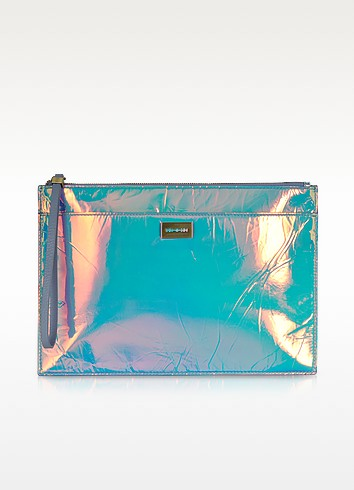 Hologram Leather Razor Edge Tech Clutch - McQ Alexander McQueen