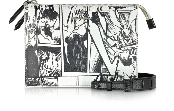White Manga Print Shoulder Bag - Alexander McQueen