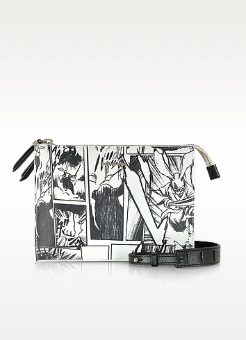 White Manga Print Shoulder Bag - Alexander McQueen