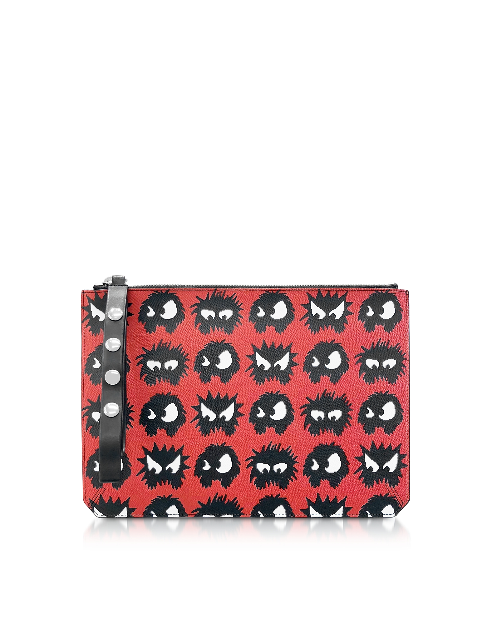 McQ Alexander McQueen Designer Handbags, Classic Red Knit Monster Tablet Pouch