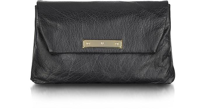 McQ - Black Leather Envelope Clutch - McQ Alexander McQueen