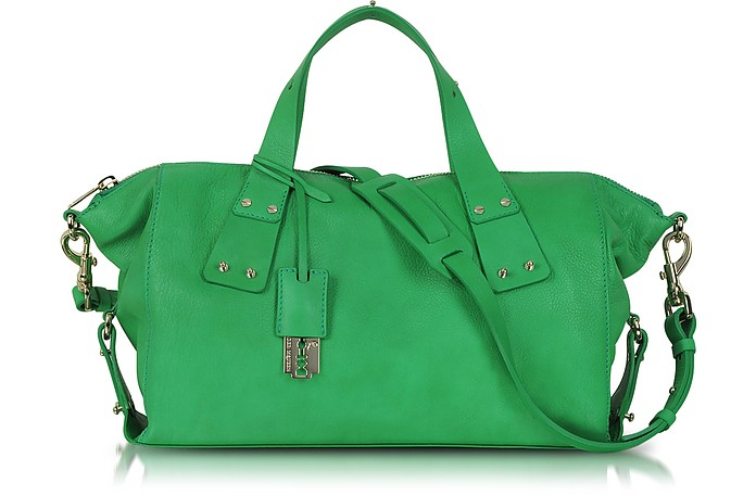 Stradford Green Leather Satchel - McQ Alexander McQueen