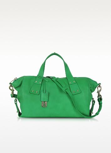 Stradford Green Leather Satchel - McQ Alexander McQueen