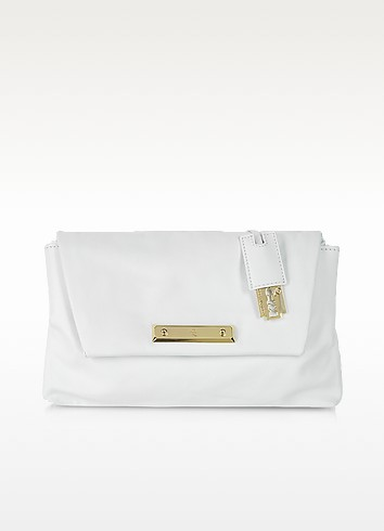 Albion - White Grainy Leather Envelope Clutch - McQ Alexander McQueen