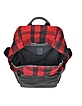 Red Wool Plaid and Leather Backpack - McQ Alexander McQueen