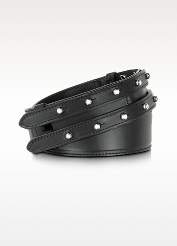 Black Leather Belt - McQ Alexander McQueen