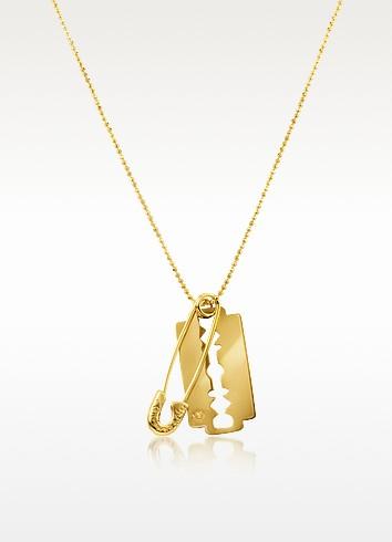 McQ - Razor & Safety Pin Necklace - McQ Alexander McQueen