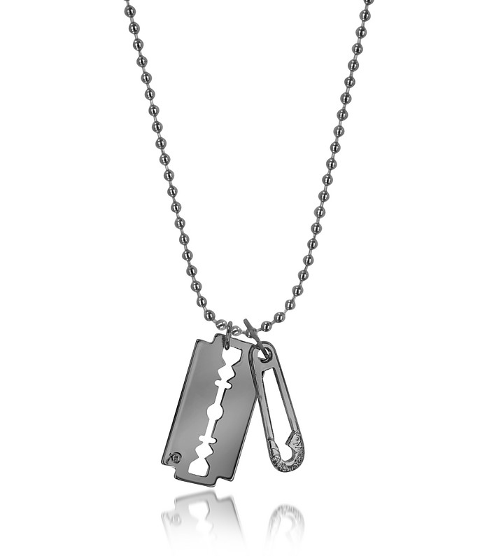 Razor & Safety Pin Pendant Necklace - McQ Alexander McQueen