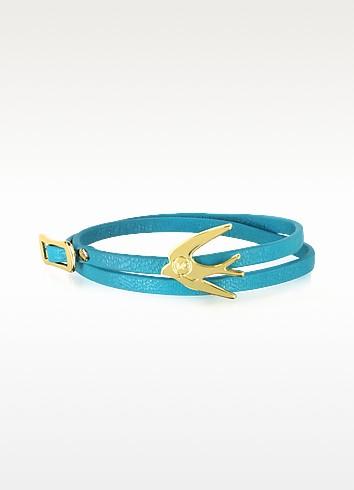 Swallow Mini Wrap Leather Bracelet - McQ Alexander McQueen