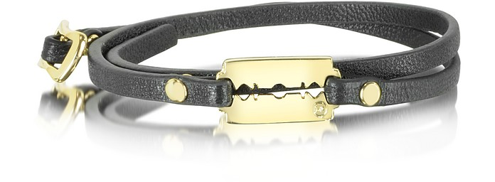 Razor Mini Wrap Leather Bracelet - McQ Alexander McQueen