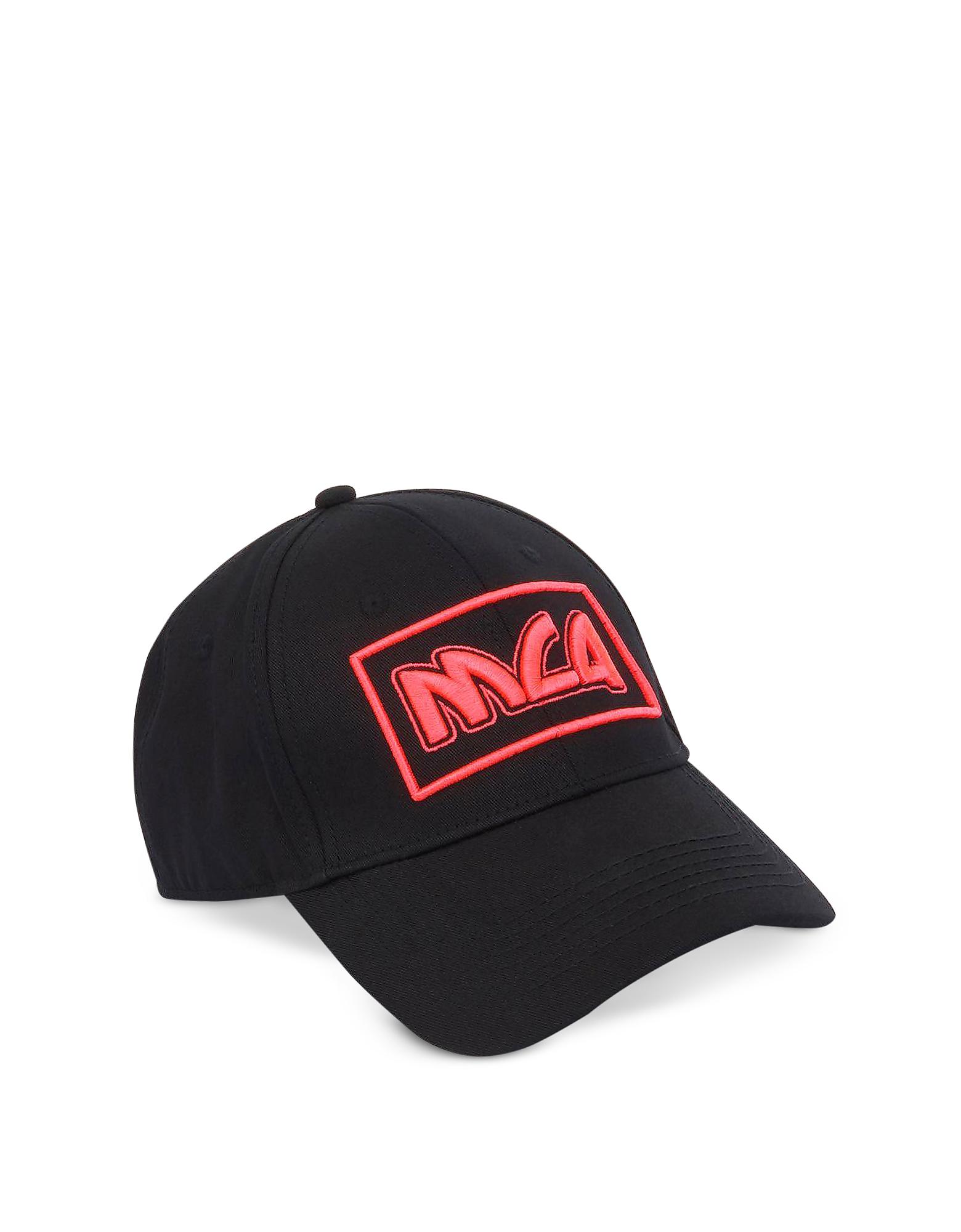 McQ Alexander McQueen Men's Hats, Metal Logo Cotton Baseball Cap