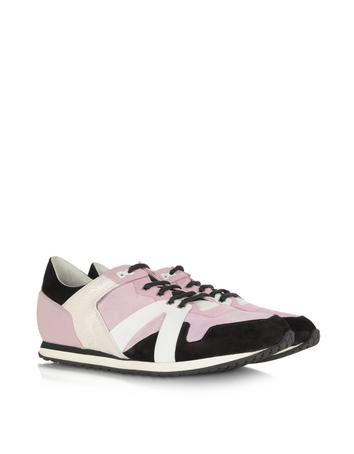 MCQ Runner Calf Leather and Suede Sneaker
