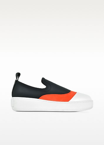 Netil Mid Cut Multicolor Fabric and Leather Platform Sneaker - McQ Alexander McQueen