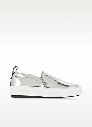 Silver Metallic Fields Slip On Sneaker - McQ Alexander McQueen