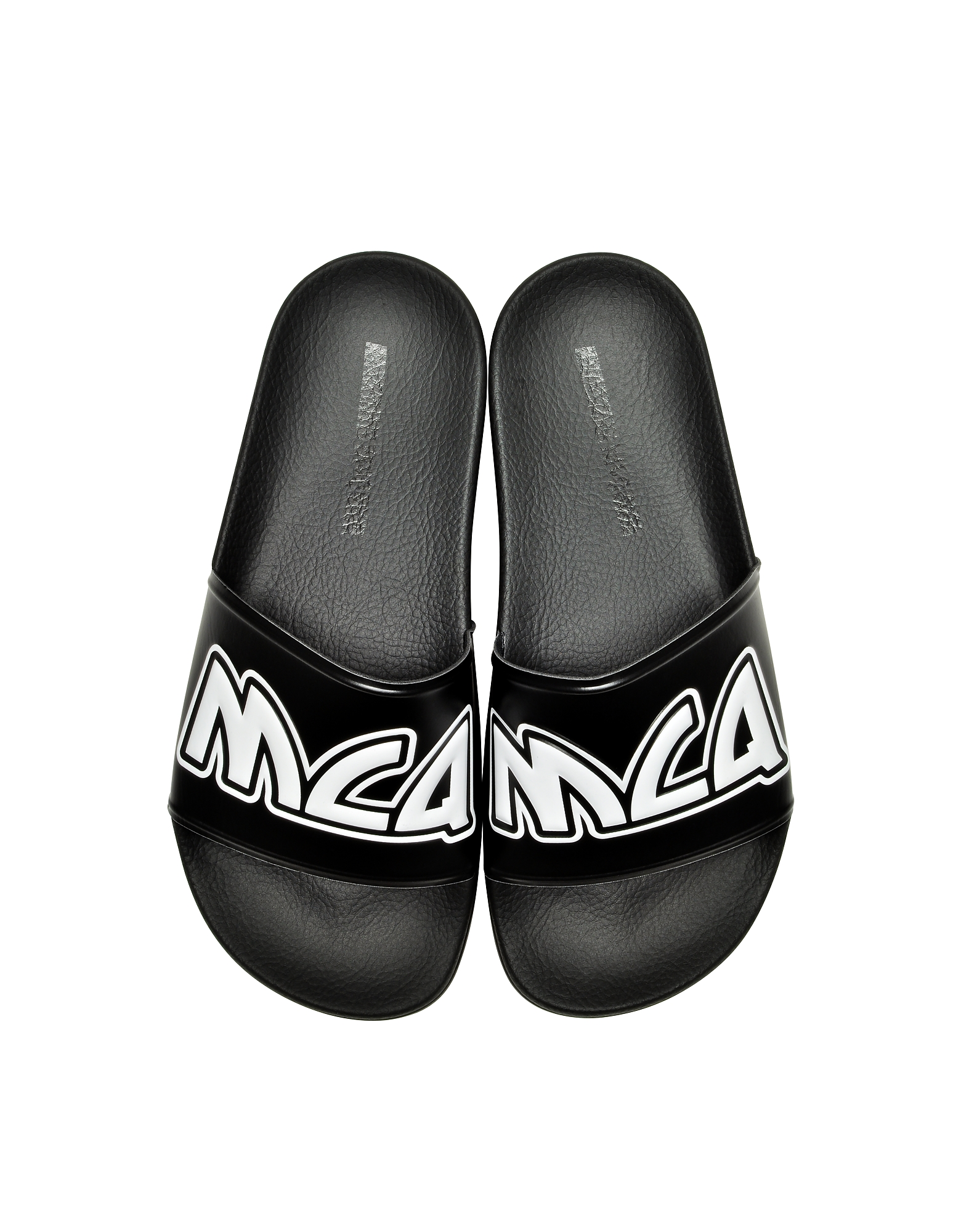 Black & White Chrissie Slide Sandals