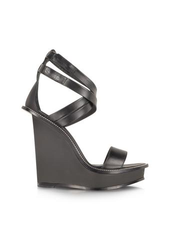 Black and White Criss Cross Wedge