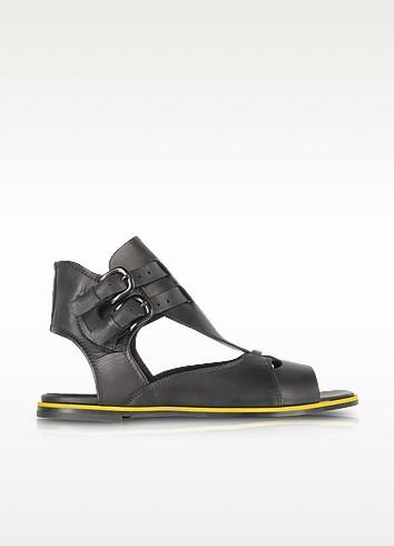 Erin Double Buckle Flat Sandal - McQ Alexander McQueen