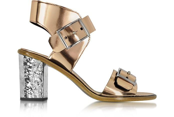 Crush Rose Gold 2 Strap Heel Sandal - McQ Alexander McQueen