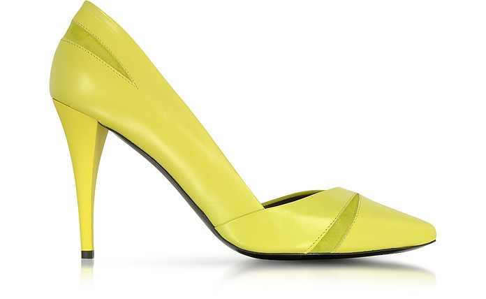 The Lex Nappa Lime Pump - McQ Alexander McQueen