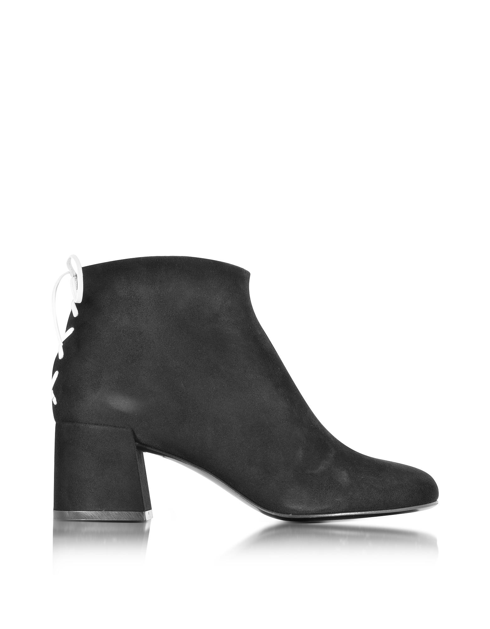 Pembury - Черные Замшевые Ботинки с Декоративным Швом