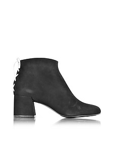Pembury Whip Stitch Black Suede Ankle Boot - McQ Alexander McQueen