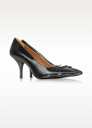 Black Patent Leather Court Shoes - McQ Alexander McQueen