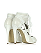 Sport Cutout White Leather Bootie - McQ Alexander McQueen