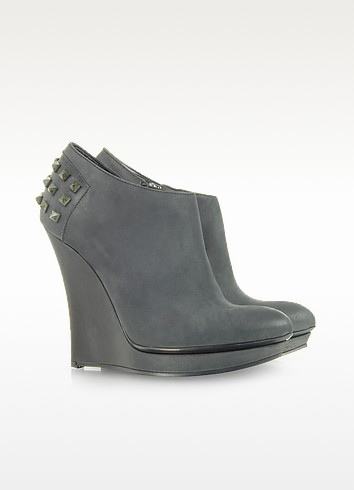 Rusty Slim Wedge Leather Bootie - McQ Alexander McQueen