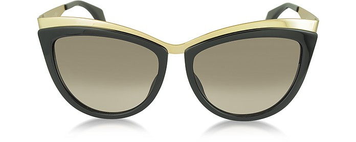 AMQ 4251/S Metal Brow Cat Eye Women's Sunglasses - Alexander McQueen