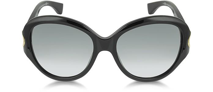 AMQ4217/S Round Framed Soft Curve Sunglasses - Alexander McQueen