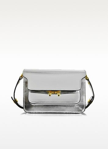 Silver Laminated Leather Mini Trunk Bag - Marni