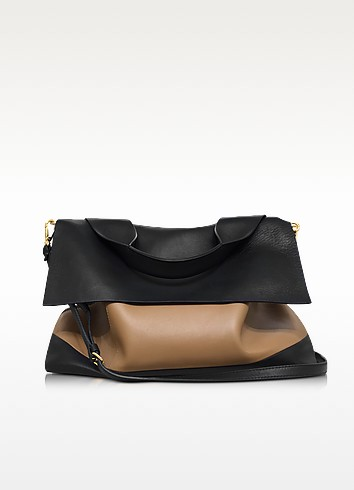 Colorblock Nappa Leather City Pod Bag - Marni