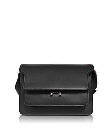 Black Leather Medium Trunk Bag  - Marni