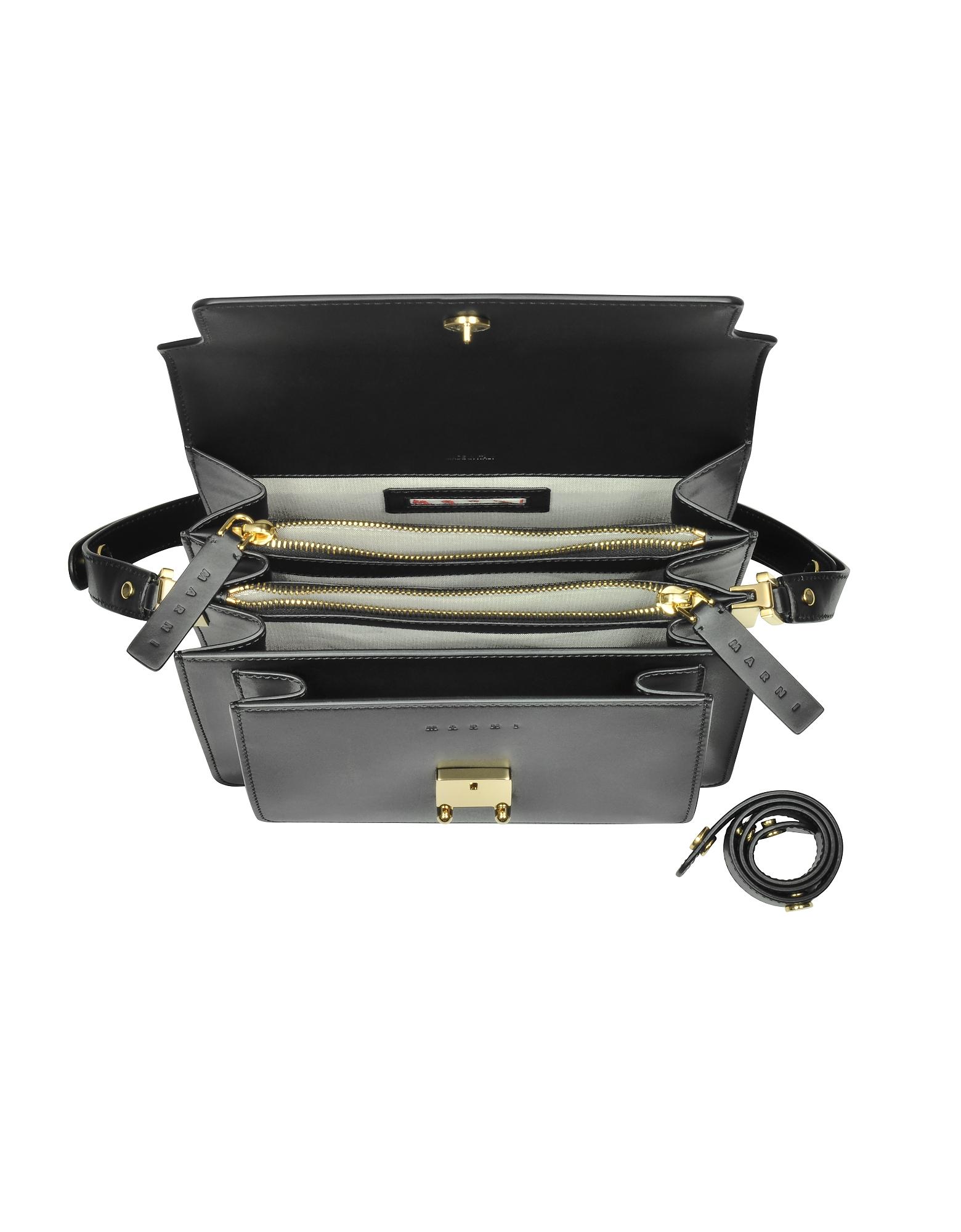 Black Leather Medium Trunk Bag от Forzieri.com INT