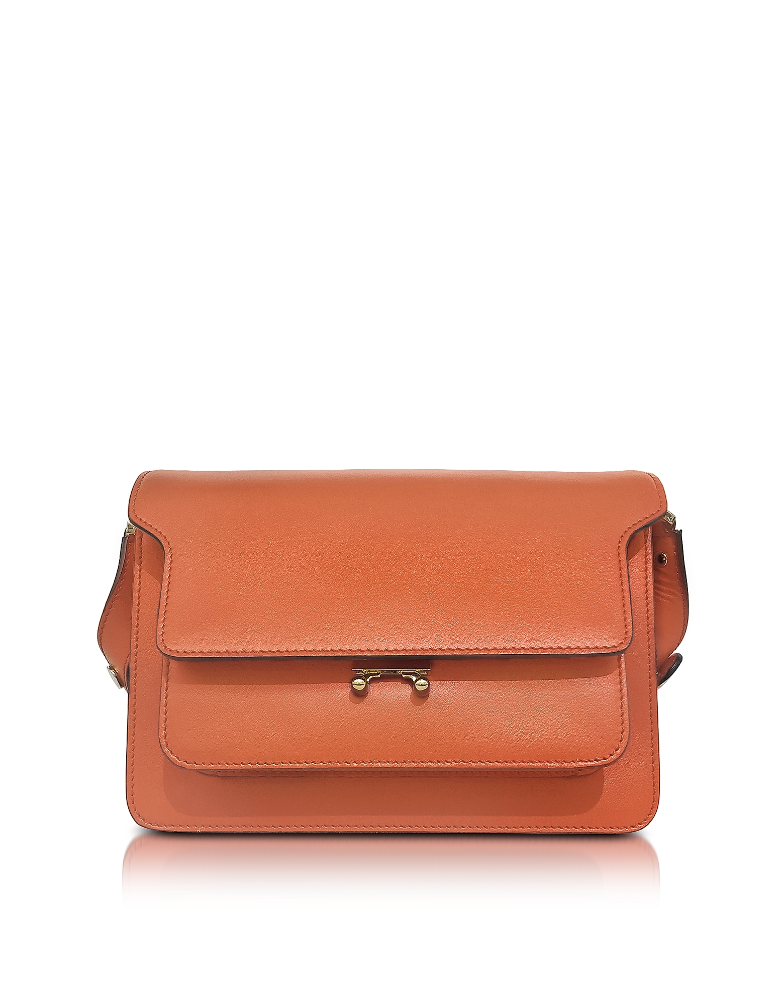 Marni Arabesque Trunk Bag - Оранжевая Кожаная Сумка
