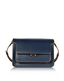 Navy Blue Leather Trunk Bag - Marni