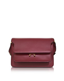 Black Cherry Leather Trunk Bag  - Marni