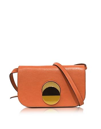 Chili Orange Leather Pois Shoulder Bag