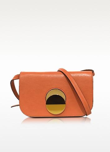 Chili Orange Leather Pois Shoulder Bag - Marni