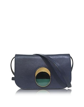 Marni - Eclipse Blue Leather Pois Shoulder Bag