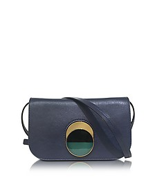 Eclipse Blue Leather Pois Shoulder Bag - Marni