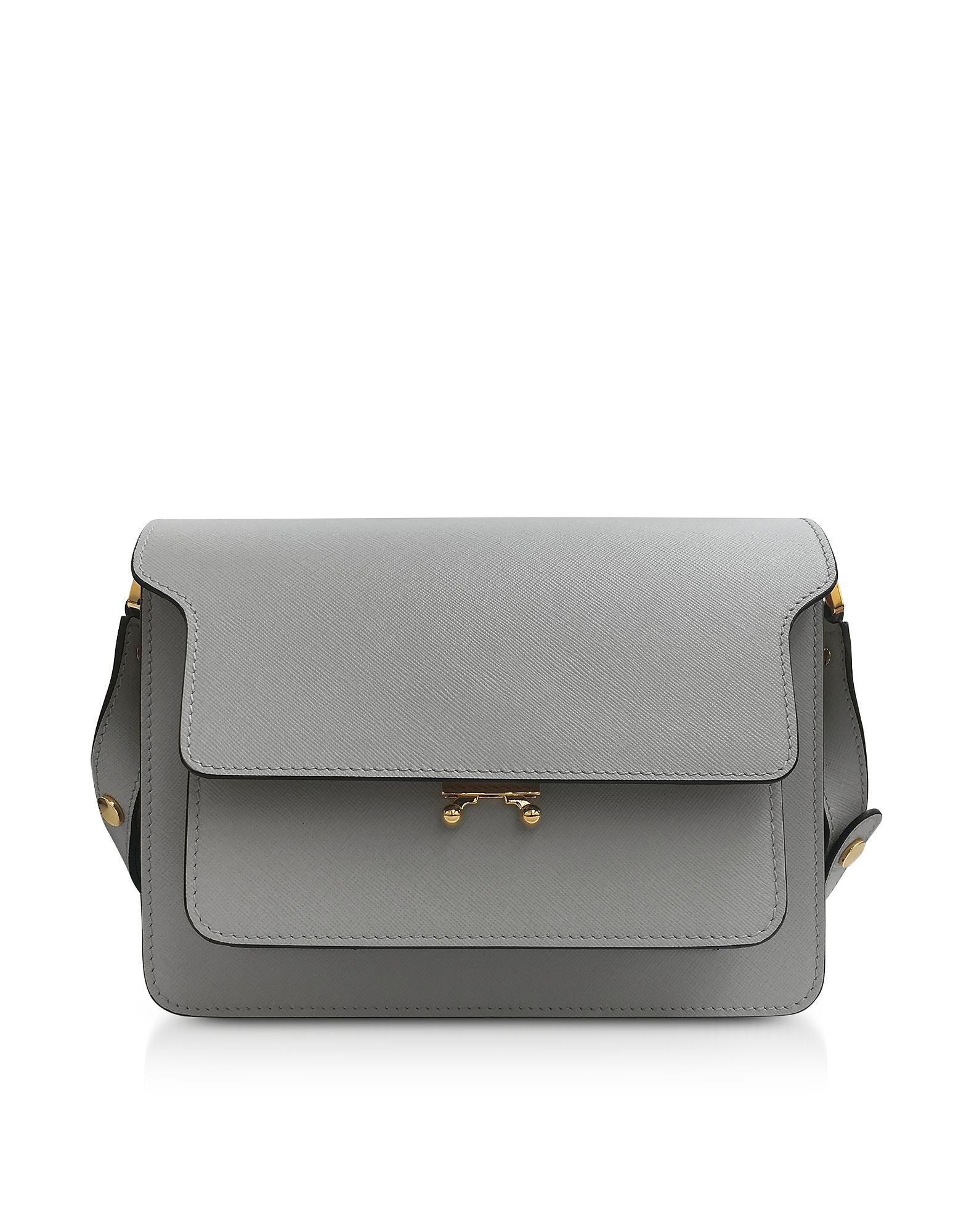 Marni Handbags, Pelican Saffiano Leather Trunk Bag
