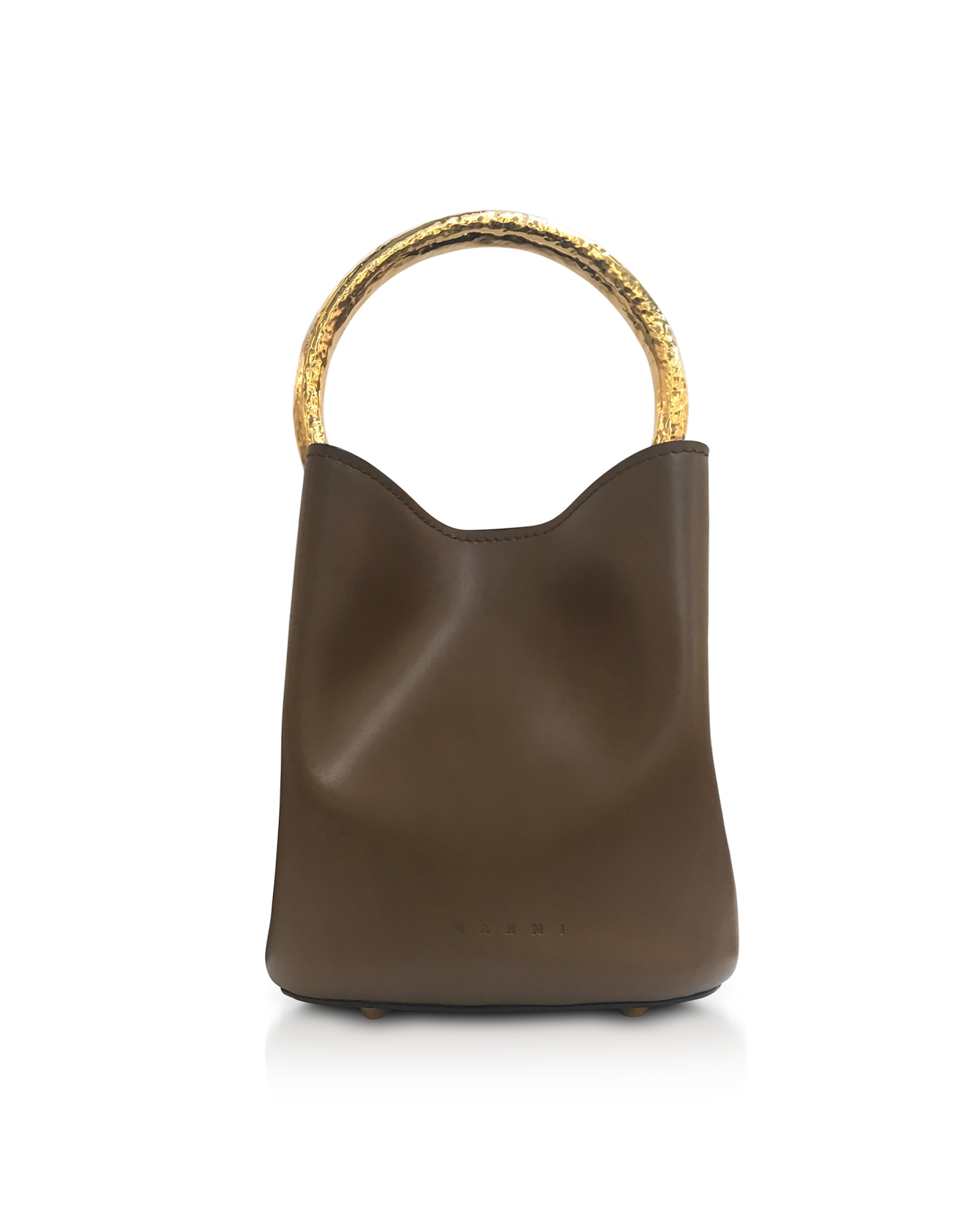 Pannier Leather Bucket Bag in Tobacco