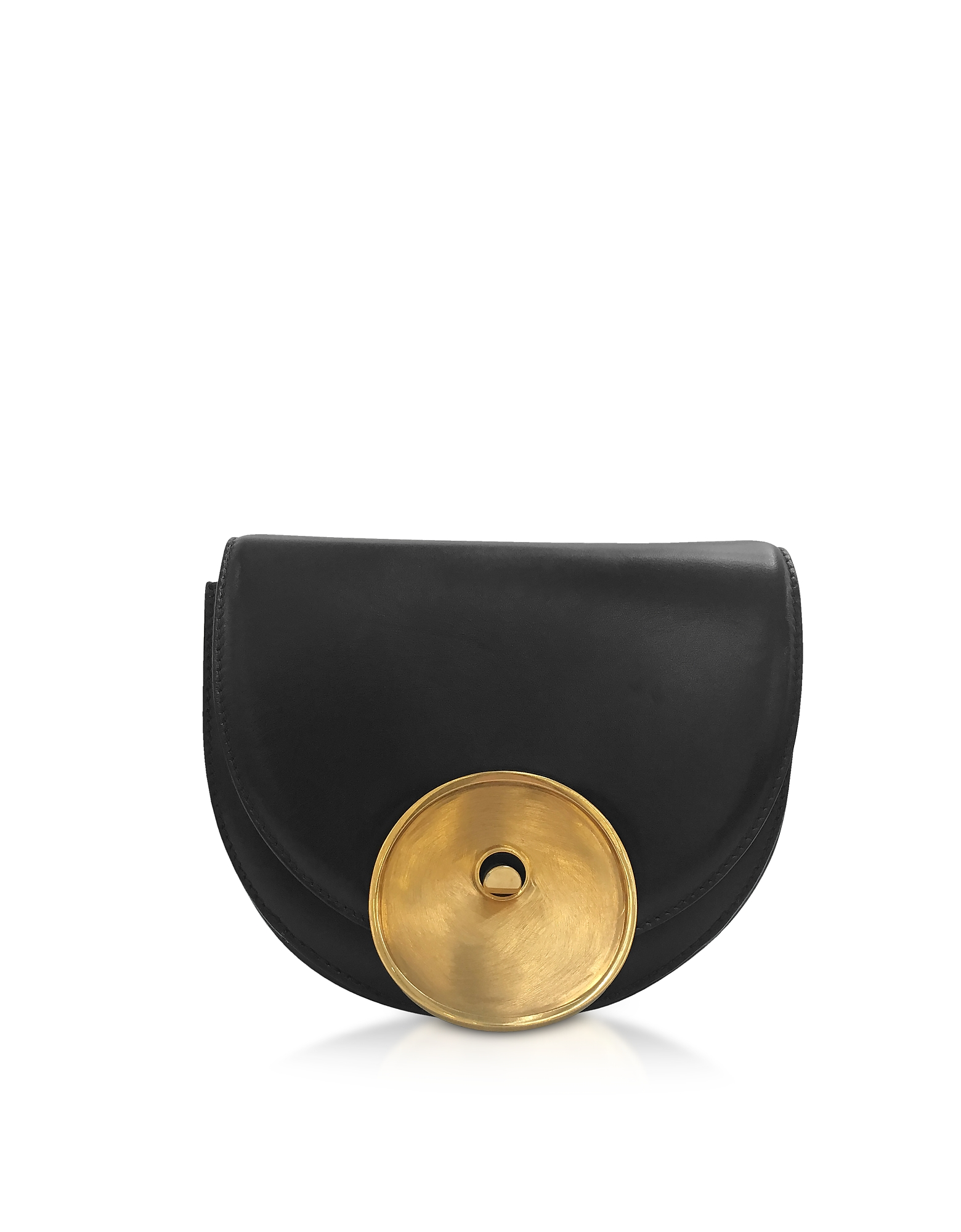 Marni Handbags, Black Leather Monile Bag