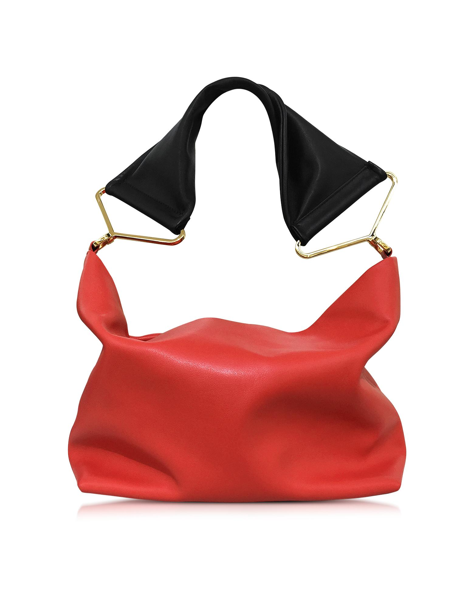 Red Leather Shoulder Bag - Marni