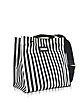 Black Stripe Canvas and Leather Voile Bag - Marni